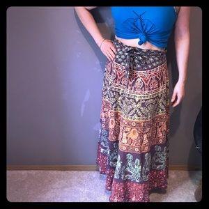 Dresses & Skirts - Beautiful 60-70's Batik Handmade Wrap Around Skirt